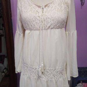 Boho flowy tunic dress